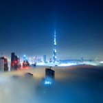 Dubai Covered in Fog by Sebastian Opitz